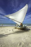 Traditional small fishing boat on the beach Royalty Free Stock Photos