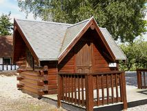Traditional small log cabin shelter Royalty Free Stock Images