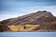 Traditional small Norwegian coastal village Stock Photo