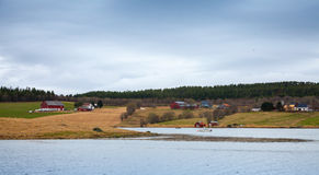 Traditional small Norwegian village Royalty Free Stock Photo