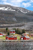 Traditional small Norwegian village Stock Photos