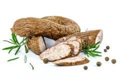 Traditional smoked sausage Stock Image