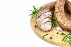 Traditional smoked sausage Stock Photography