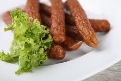 Traditional smoked sausages Royalty Free Stock Image
