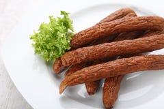 Traditional smoked sausages Stock Image