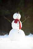 Traditional snowman Royalty Free Stock Image