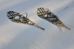 Traditional snowshoes Stock Images