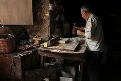 Traditional Soap Making, Tripoli, Lebanon Stock Image