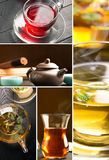 Traditional sorts of tea. Different cultures (collage Royalty Free Stock Image