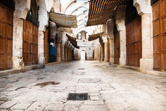 Traditional Souks street with roof in Tripoli, Lebanon Royalty Free Stock Photography