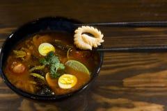 Traditional soup ramen Stock Photos