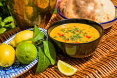 Traditional soup of red lentils Royalty Free Stock Photos