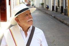 Traditional South American man headshot stock image