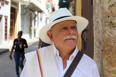 Traditional South American man headshot.  royalty free stock photo
