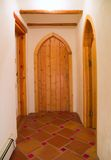 Traditional southwestern hallway. With saltillo tiles Royalty Free Stock Photos
