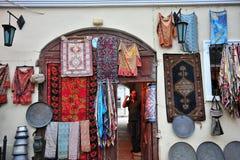 Traditional souvenir shop in old town of Baku Royalty Free Stock Photos