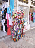 Traditional souvenir shops at Hydra island Saronic Gulf Greece royalty free stock photography