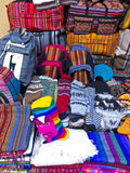 Traditional souvenirs at the market in La Paz, Bolivia. Royalty Free Stock Images