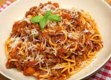 Traditional Spaghetti Bolognese or Bolognaise Royalty Free Stock Photos