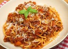 Traditional Spaghetti Bolognese or Bolognaise Royalty Free Stock Photos
