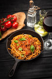 Traditional spaghetti bolognese Stock Images