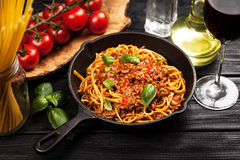 Traditional spaghetti bolognese Royalty Free Stock Photography
