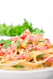 Traditional spaghetti carbonara Royalty Free Stock Images