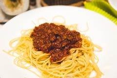 Traditional spaghetti Stock Photos