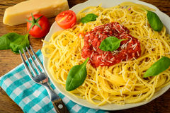 Traditional spaghetti pasta Royalty Free Stock Photo