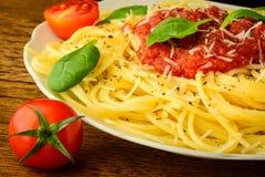 Traditional spaghetti pasta stock photos