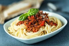 Traditional spahgetti Bolognaise or Bolognese Stock Image