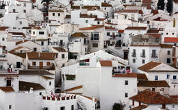 Traditional Spain. White houses in Andalusia Royalty Free Stock Image