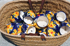 Traditional spanish ceramic jugs Stock Photo