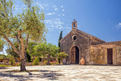 Traditional Spanish Chapel, Son Real, Mallorca. A traditional Spanish chapel adjacent to the Manor House on the public Son Real Estate - Finca pública de Son Royalty Free Stock Images