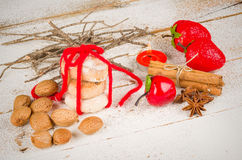 Traditional Spanish Christmas bicuits Royalty Free Stock Photos