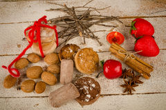 Traditional Spanish Christmas mantecados Royalty Free Stock Photography