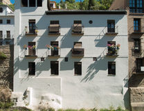 Traditional spanish clay white house. Traditional spanish white house clay wall in Granada, Andaluz Stock Images