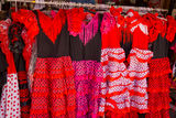 Traditional spanish dresses for flamenco Royalty Free Stock Photo
