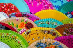 Traditional spanish fans Stock Images