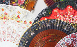 Traditional spanish fans, Royalty Free Stock Image