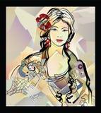 Traditional Spanish Flamenco woman stock photos