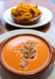 Traditional spanish food. Traditional spanish food served in the table royalty free stock image
