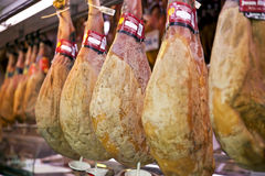 Traditional spanish ham stock image