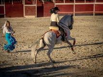 Traditional Spanish horse riding Stock Image