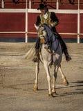Traditional Spanish horse riding Stock Photos