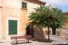 Traditional Spanish house. Exterior of a traditional stone house in Santanij, Majorca, Spain Royalty Free Stock Photo