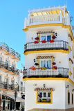 traditional Spanish house in Torremolinos, Costa del Sol, Spain Royalty Free Stock Image