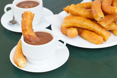 Traditional spanish pastry - churros Stock Images