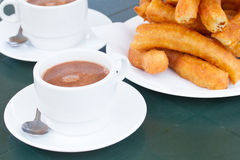 Traditional spanish pastry - churros Stock Photo