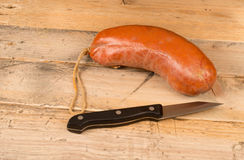 Sobrasada sausage on table Royalty Free Stock Image